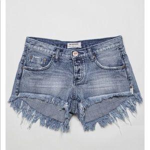 ONE X ONE TEASPOON Demin Shorts